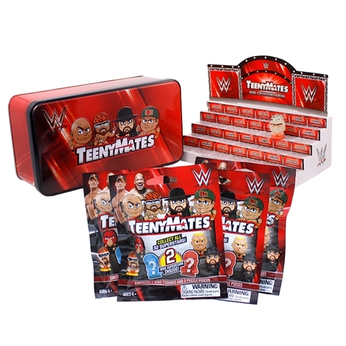 WWE Wrestlng Teenymates Series 1 Collector Tin