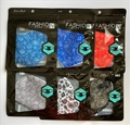 12 Pack Assorted Paisley Design Reusable Face Masks w/ Ear Loops