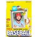 1983 Fleer Baseball Cello Wax Box - 23 Packs *NEW*