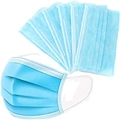 Disposable 3-Ply Blue Face Masks w/ Ear Loops 50ct Box