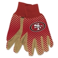 San Francisco 49ers NFL Full Color Sublimated Gloves *NEW*