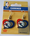 Philadelphia 76ers NBA Swirl Heart Dangle Earrings *SALE*