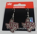 Texas A&M Aggies State Design NCAA Dangle Earrings *NEW*