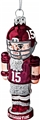 Alabama Crimson Tide NCAA Blown Glass Football Nutcracker Ornament *NEW* - 6 Count Case