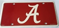 Alabama Crimson Tide 2nd Logo NCAA Printed Metal License Plate Tag