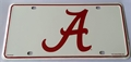 Alabama Crimson Tide 3rd Logo NCAA Printed Metal License Plate Tag *NEW*