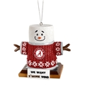 Alabama Crimson Tide NCAA Resin S'more Snowman Ornament