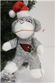 Arizona Cardinals NFL Sock Monkey Ornament