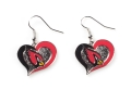 Arizona Cardinals NFL Silver Swirl Heart Dangle Earrings *SALE*