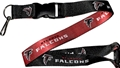 Atlanta Falcons NFL Black/Red Reversible Lanyard