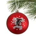 Atlanta Falcons NFL Snowflake Red Shatter-Proof Ball Ornament 6 Count Case *NEW*