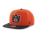 Auburn Tigers NCAA Orange Sure Shot Captain Snapback Hat *NEW*