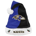 "Baltimore Ravens NFL Basic Holiday 18"" Christmas Santa Hat *NEW*"