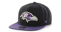 Baltimore Ravens NFL Black Super Shot 2 Tone Captain Adjustable Hat *NEW*