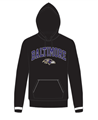 Baltimore Ravens NFL Jet Black Embroidered Team Logo Mens Hoodie *NEW*