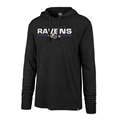 Baltimore Ravens NFL Jet Black End Line Club Mens Hood Size L