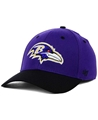 Baltimore Ravens NFL Kick Off 2 Tone Contender Stretch Fit Hat *NEW* Size S/M