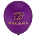 "Baltimore Ravens 6 Count NFL 11"" Latex Balloons Pack *CLOSEOUT*"