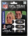 Baltimore Ravens NFL Vinyl Face Decorations 6 Pack Eye Black Strips *CLOSEOUT*
