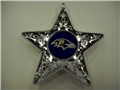 Baltimore Ravens NFL Silver Star Ornament