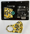 Black & Gold Camo Reusable Face Masks w/ Ear Loops *NEW*