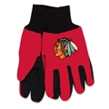 Chicago Blackhawks Logo NHL 2 Tone Sport Utility Work Gloves