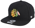 Chicago Blackhawks NHL Black Sure Shot Adjustable Captain Snapback Hat *NEW*
