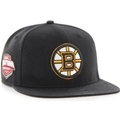Boston Bruins NHL Jet Black Sure Shot Captain Adjustable Snapback Hat *NEW*