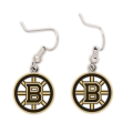 Boston Bruins NHL Silver Dangle Earrings
