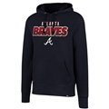 Atlanta Braves MLB Fall Navy Headline Mens Hoodie *NEW*