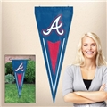 "Atlanta Braves MLB 34"" x 14"" Embroidered 1-Sided Yard & Wall Pennant Flag *CLOSEOUT*"