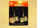 Milwaukee Brewers MLB Bow Silver Dangle Earrings *CLOSEOUT*