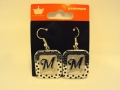 Milwaukee Brewers MLB Polka Dots Silver Dangle Earrings *CLOSEOUT*
