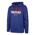 Buffalo Bills NFL Royal Blockout Headline Pullover Men's Hoodie *NEW* Size S