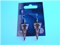 Chicago Bulls NBA Team Pennant Silver Dangle Earrings *CLOSEOUT*