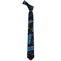 Carolina Panthers NFL Repeat Logo Printed Tie