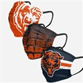 Chicago Bears NFL Matchday Face Cover 3-Pack *NEW*