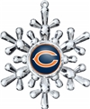 Chicago Bears NFL Traditional Snowflake Ornament 6ct Box *NEW*