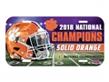 Clemson Tigers NCAA 2018 National Champions Plastic License Plate *SALE*