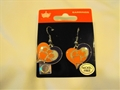 Clemson Tigers NCAA Silver Swirl Heart Dangle Earrings
