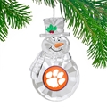 Clemson Tigers NCAA Traditional Snowman Ornament *NEW* - 6 Count Case