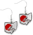Cleveland Browns State Design NFL Dangle Earrings