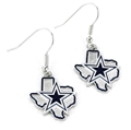 Dallas Cowboys State Design NFL Dangle Earrings