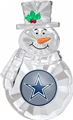 Dallas Cowboys NFL Traditional Snowman Ornament *NEW* - 6 Count Case