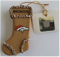 Denver Broncos NFL Resin Gingerbread Stocking Ornament *CLOSEOUT*