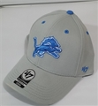 Detroit Lions NFL Gray Kick Off Contender Stretch Fit Hat *NEW*
