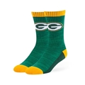 Green Bay Packers NFL Dark Green Noble Hybrid Crew Sock Size L