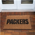 Green Bay Packers NFL Flocked Coir Door Mat 6ct Case *CLOSEOUT*