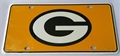 Green Bay Packers 2nd Design NFL Printed Metal License Plate Tag *NEW*