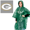 Green Bay Packers NFL Adult Rain Poncho